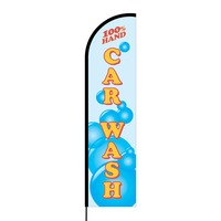 Hand Car Wash Flex Banner Flag - 16ft (Single Sided)