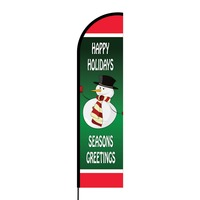 Happy Holidays Flex Banner Flag - 16ft (Single Sided)