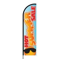 Hot Summer Sale Flex Banner Flag - 16ft (Single Sided)