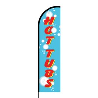 Hot Tubs Flex Banner Flag - 16ft (Single Sided)