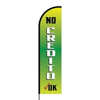 No Credito Flex Banner Flag - 16ft (Single Sided)