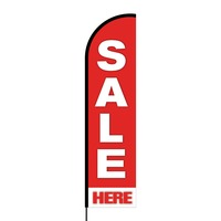 Sale Here Flex Banner Flag - 16ft (Single Sided)