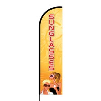 Sunglasses Flex Banner Flag - 16ft (Single Sided)