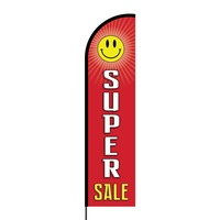 Super Sale Flex Banner Flag - 16ft (Single Sided)