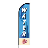 Water Flex Banner Flag - 16ft (Single Sided)