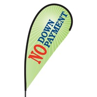 No Down Payment Flex Blade Flag - 09' Single Sided