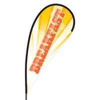 Breakfast Flex Blade Flag - 09' Single Sided