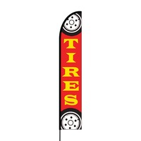 Tires Flex Banner EVO Flag Single Sided Print