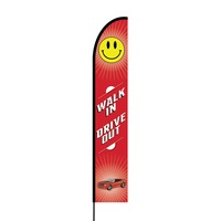 Walk In Drive Out Flex Banner EVO Flag Single Sided Print