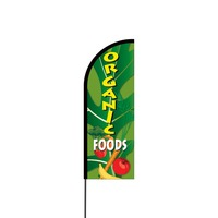 Organic Foods Flex Banner Flag - 11ft
