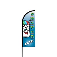 Shaved Ice Flex Banner Flag - 11ft