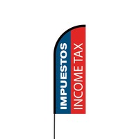 Impuestos Income Tax Flex Banner Flag - 11ft