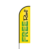 Free Rent Flex Banner Flag - 14 (Single Sided)
