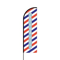 Barbershop Flex Banner Flag - 14 (Single Sided)