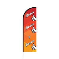 Bueno Bonito y Barato Flex Banner Flag - 14 (Single Sided)