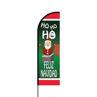 Feliz Navidad Flex Banner Flag - 14 (Single Sided)