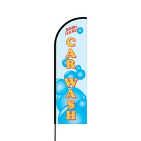 Hand Car Wash Flex Banner Flag - 14 (Single Sided)