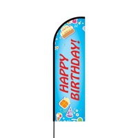 Happy Birthday Flex Banner Flag - 14 (Single Sided)