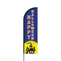 Happy Halloween Flex Banner Flag - 14 (Single Sided)