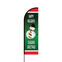 Happy Holidays Flex Banner Flag - 14 (Single Sided)