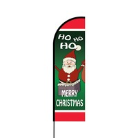 Merry Christmas Flex Banner Flag - 14 (Single Sided)