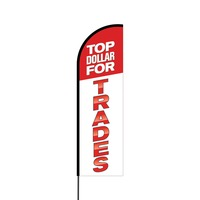 Top Dollar for Trades Flex Banner Flag - 14 (Single Sided)