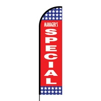 Manager's Special Flex Banner Flag - 16ft (Single Sided)