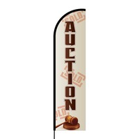 Auctions Flex Banner Flag - 16ft (Single Sided)