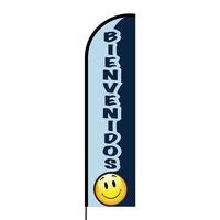 Bienvenidos Flex Banner Flag - 16ft (Single Sided)