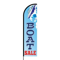 Boat Sale Flex Banner Flag - 16ft (Single Sided)