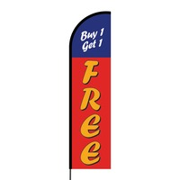 Buy One Get One Free Flex Banner Flag - 16ft (Single Sided)