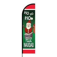 Feliz Navidad Flex Banner Flag - 16ft (Single Sided)