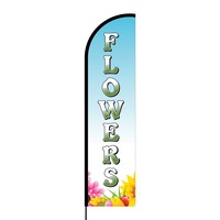 Flowers Flex Banner Flag - 16ft (Single Sided)