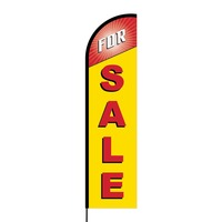 For Sale Flex Banner Flag - 16ft (Single Sided)
