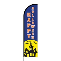 Happy Halloween Flex Banner Flag - 16ft (Single Sided)