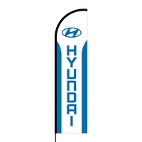 Hyundai Flex Banner Flag - 16ft (Single Sided)