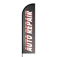 Auto Repair Flex Banner Flag - 16ft (Single Sided)