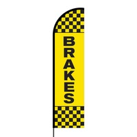 Brakes Flex Banner Flag - 16ft (Single Sided)