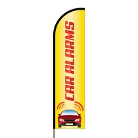 Car Alarms Flex Banner Flag - 16ft (Single Sided)