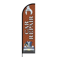 Car Repair Flex Banner Flag - 16ft (Single Sided)