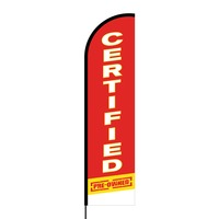Certified Pre-Owned Flex Banner Flag - 16ft (Single Sided)