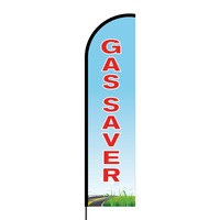 Gas Saver Flex Banner Flag - 16ft (Single Sided)