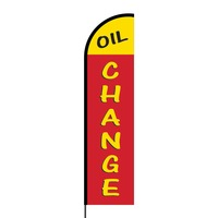 Oil Change Flex Banner Flag - 16ft (Single Sided)