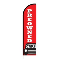 Pre-Owned Cars Flex Banner Flag - 16ft (Single Sided)