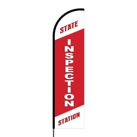 State Inspection Station Flex Banner Flag - 16ft (Single Sided)