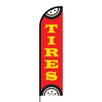 Tires Flex Banner Flag - 16ft (Single Sided)