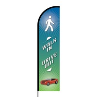 Walk In Drive Out Flex Banner Flag - 16ft (Single Sided)