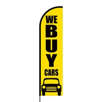 We Buy Cars Flex Banner Flag - 16ft (Single Sided)