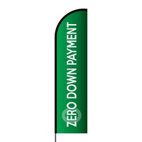 Zero Down Payment Flex Banner Flag - 16ft (Single Sided)