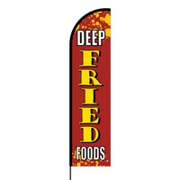 Deep Fried Foods Flex Banner Flag - 16ft (Single Sided)